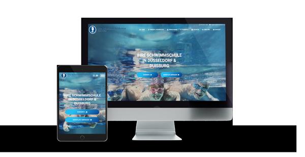Schwimmakademie Website Referenz