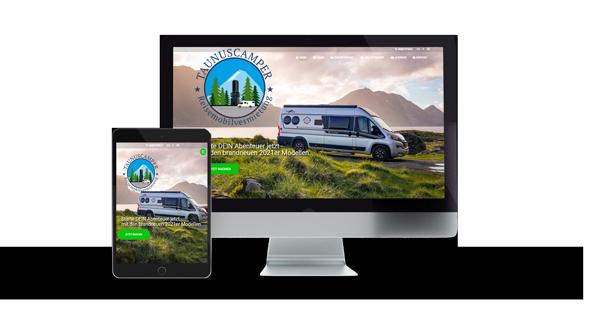 taunuscamper Website Referenz